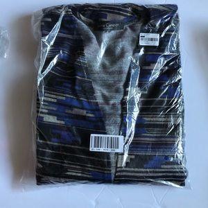 NWT love Cameron blue print long soft cardigan XL